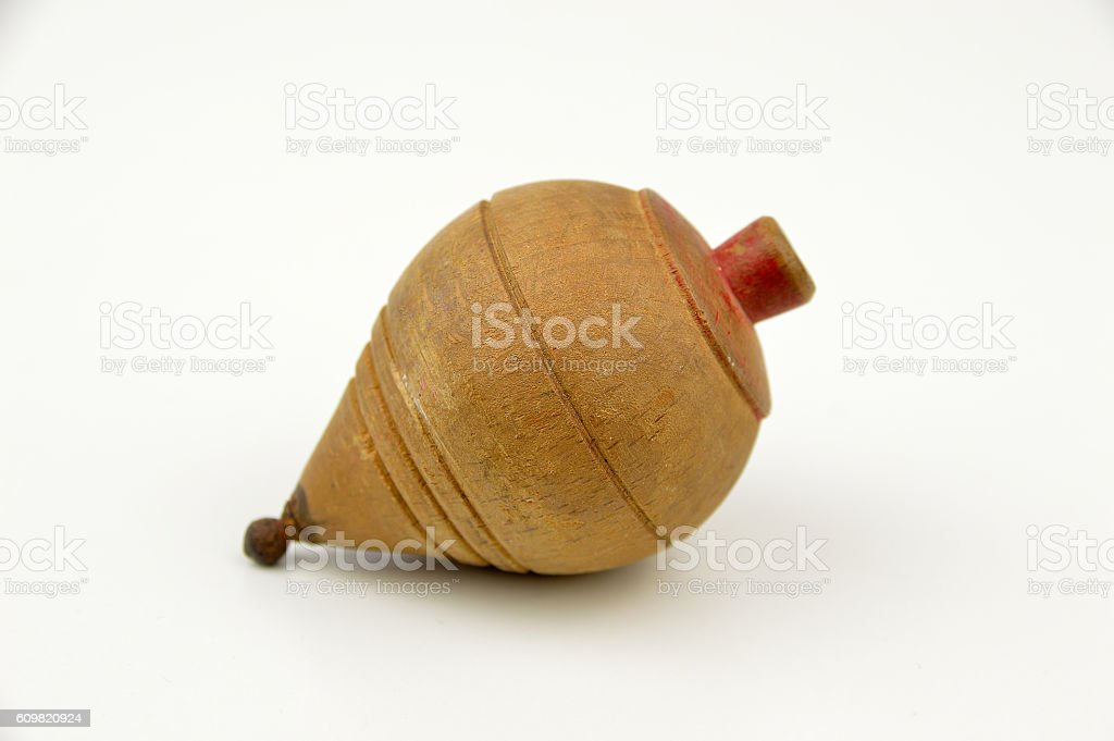 spinning top play stock photo