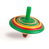 Spinning wooden top