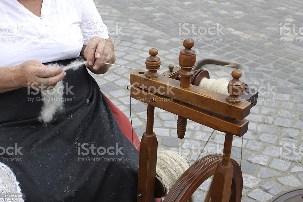 Spinning Yarn royalty-free stock photo