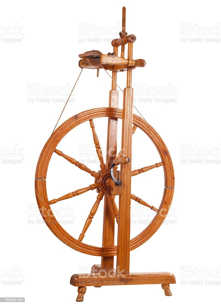 Spinning-wheel royalty-free stock photo