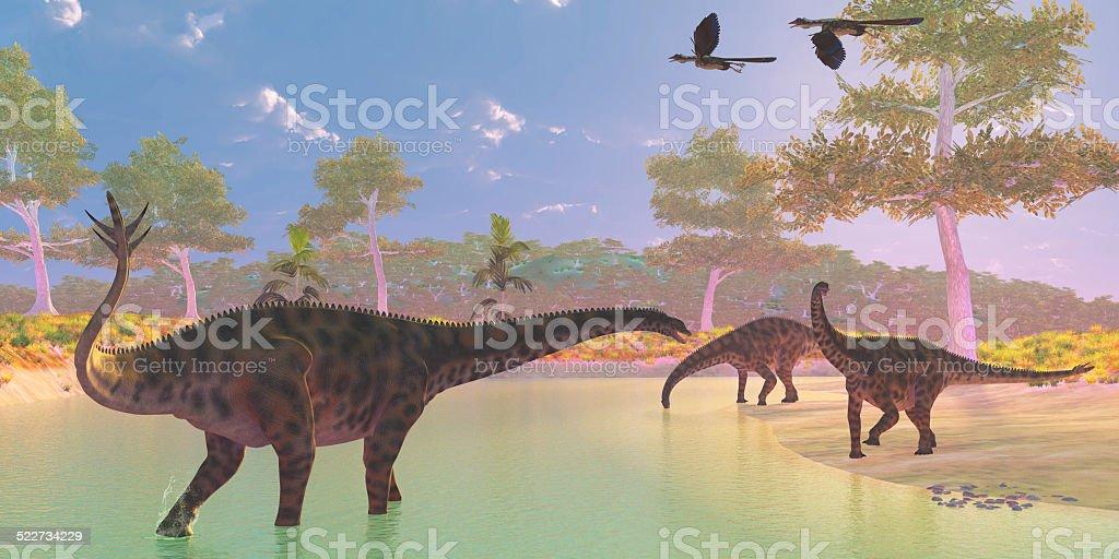 Spinophorosaurus Dinosaur River stock photo