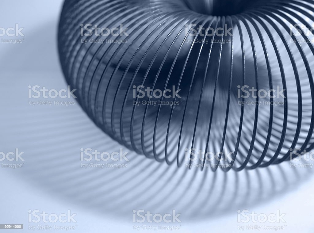 spiral abstract metal coil stock photo