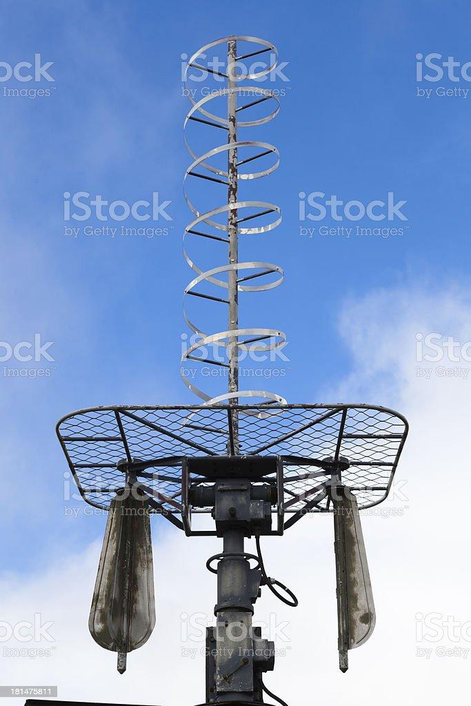 Spiral antenna stock photo