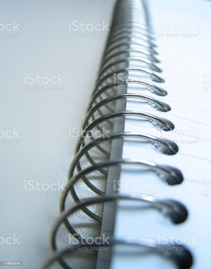 spiral binding of a notebook royalty-free stock photo