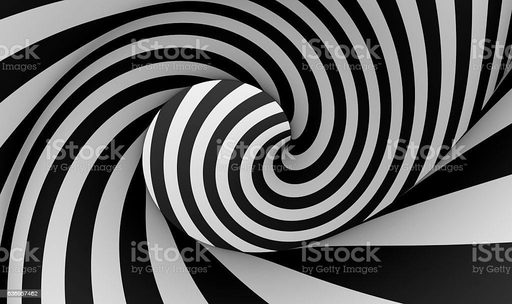 Spiral Black and white stock photo