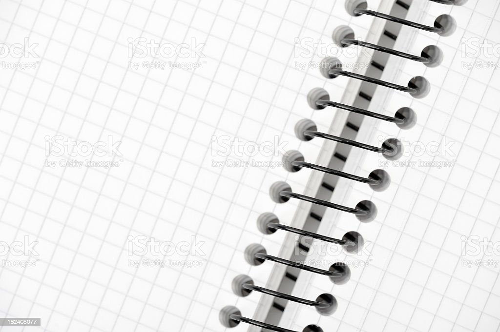 Spiral blank notebook royalty-free stock photo