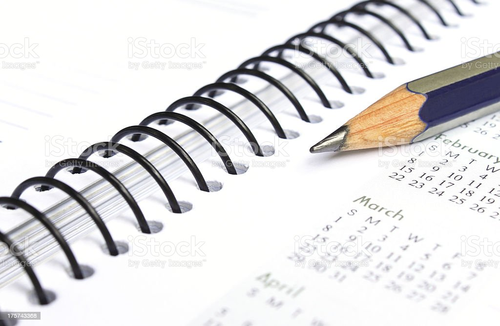 Spiral bound note book royalty-free stock photo