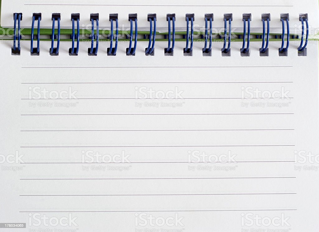 Spiral bound note pad stock photo