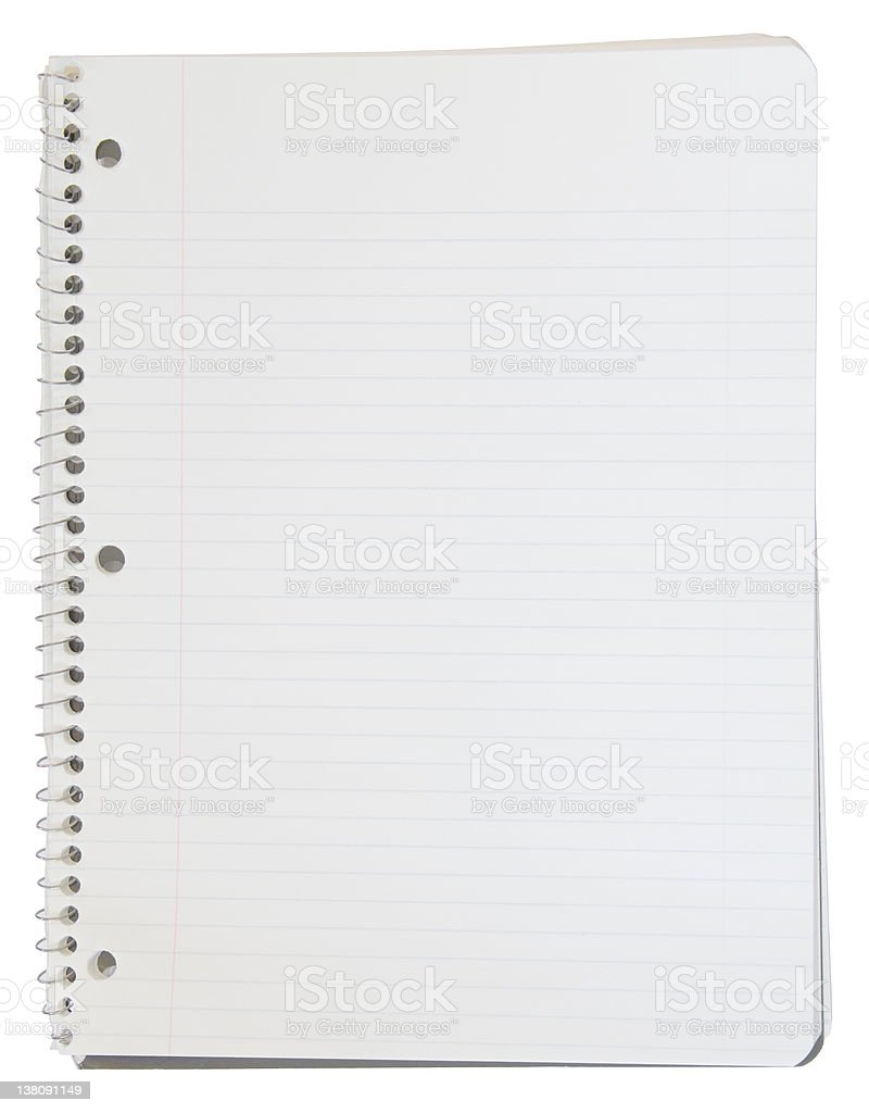 Spiral Bound Notebook with Clipping Path stock photo
