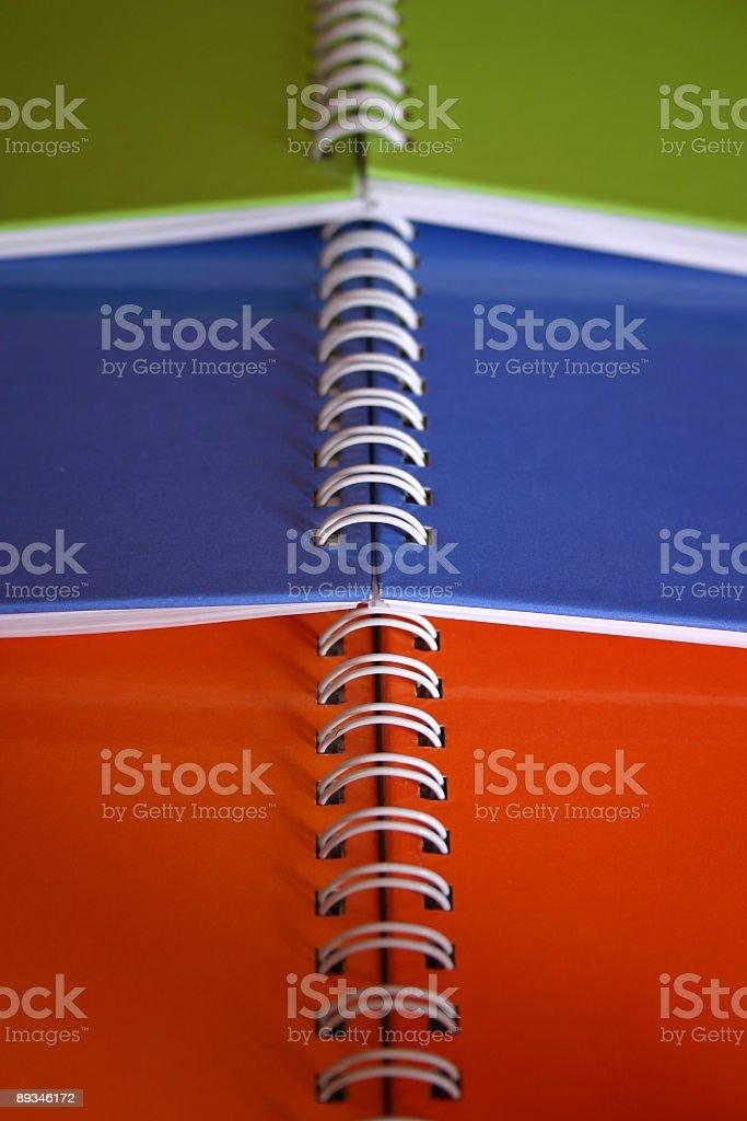 spiral bound notebooks royalty-free stock photo