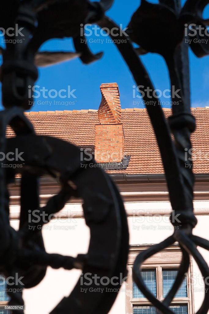 Spiral chimney stock photo
