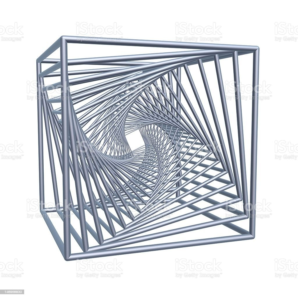 spiral cubes royalty-free stock photo