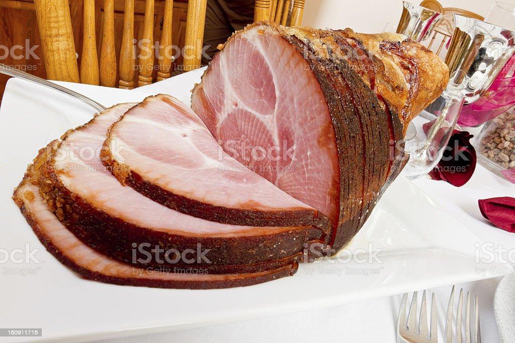 Spiral Cut Ham stock photo