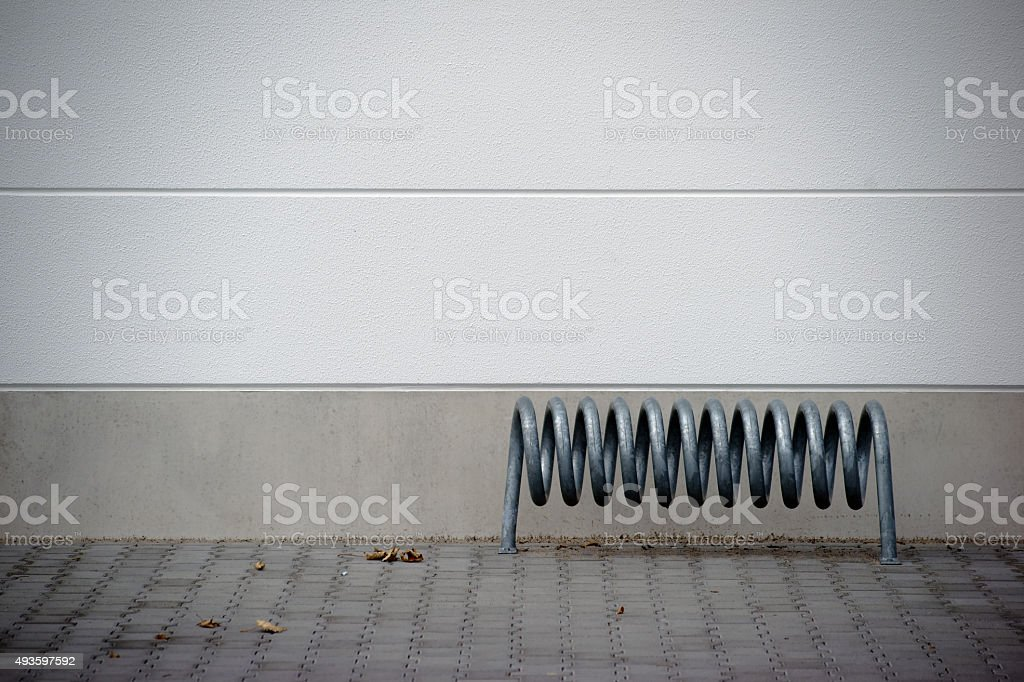 Spiral Cycle stand stock photo