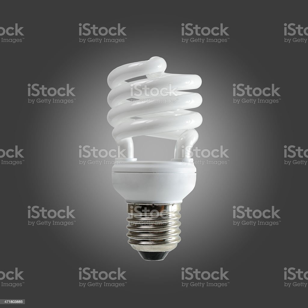 Spiral fluorescent light royalty-free stock photo