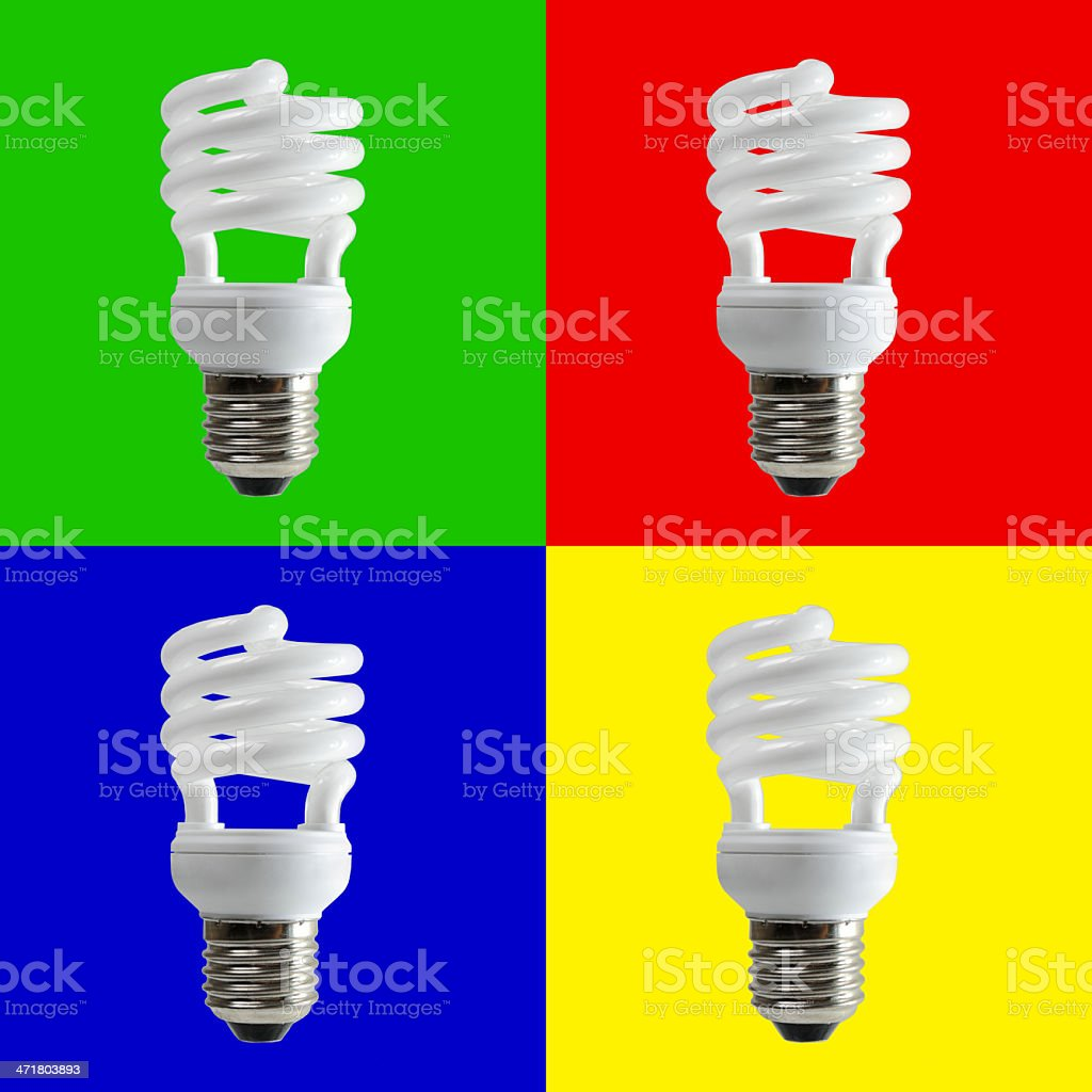 Spiral fluorescent light royalty-free stock photo