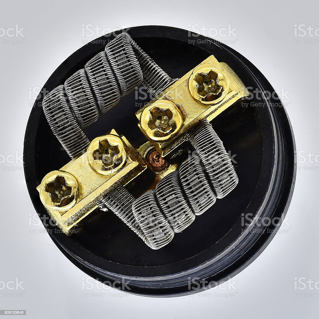 spiral for electronic cigarettes stock photo