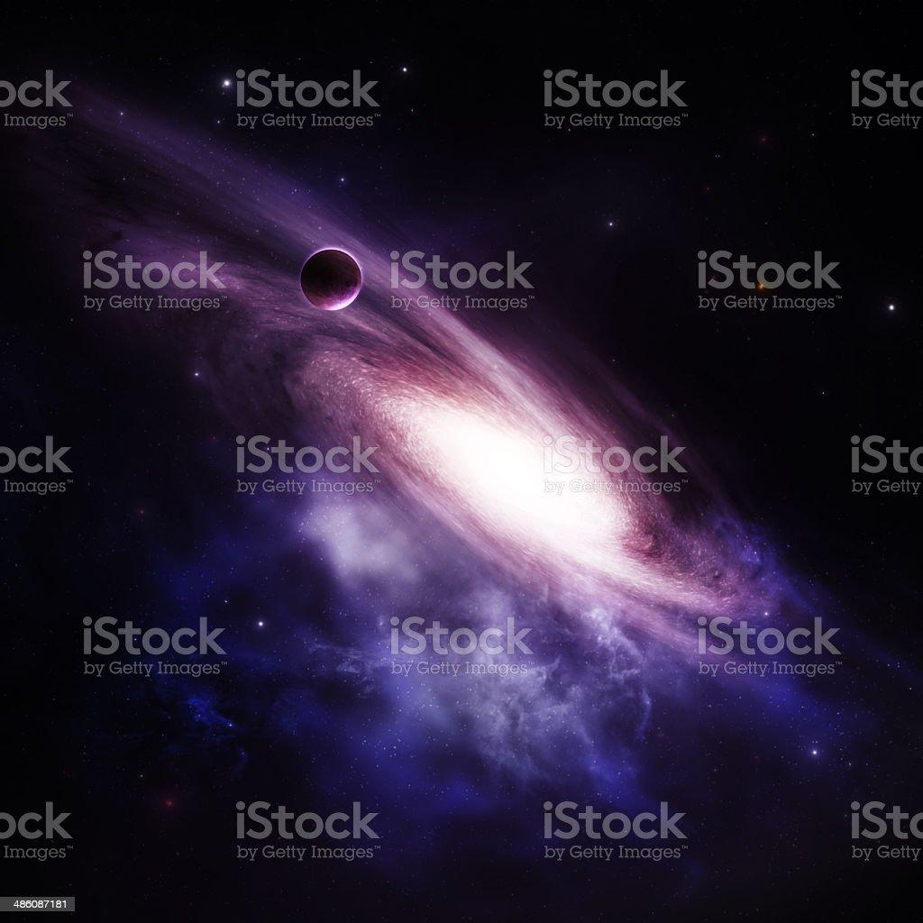 Spiral Galaxy Background stock photo