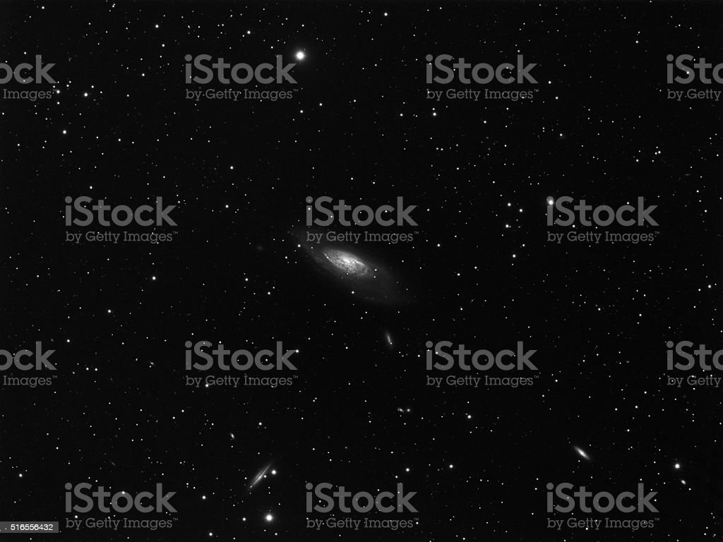Spiral Galaxy M106 stock photo