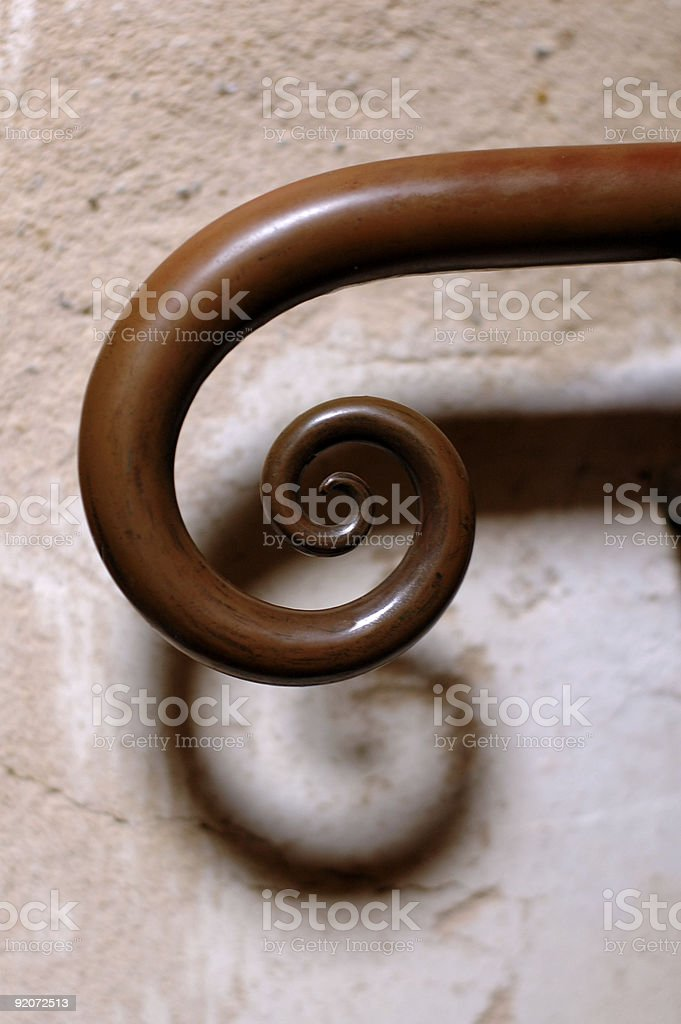Spiral handrail royalty-free stock photo