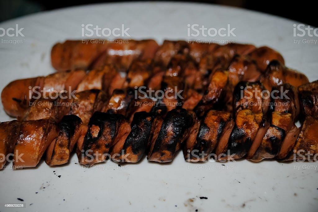 Spiral Hot dog stock photo