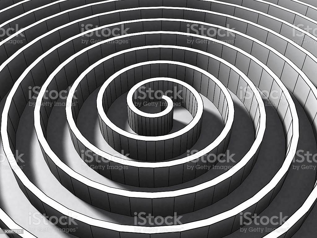 Spiral ii stock photo