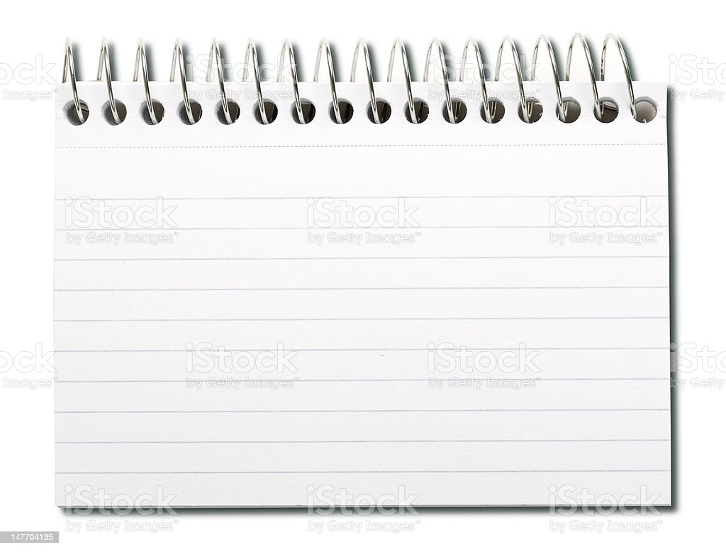 Spiral index card royalty-free stock photo