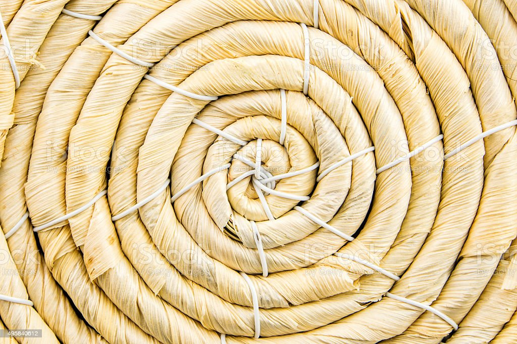 spiral lines made of straw stock photo