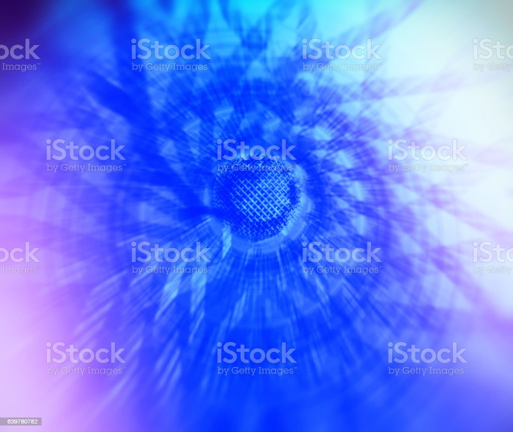 Spiral mic abstraction stock photo