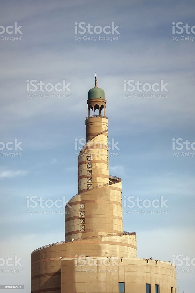 Spiral mosque stock photo