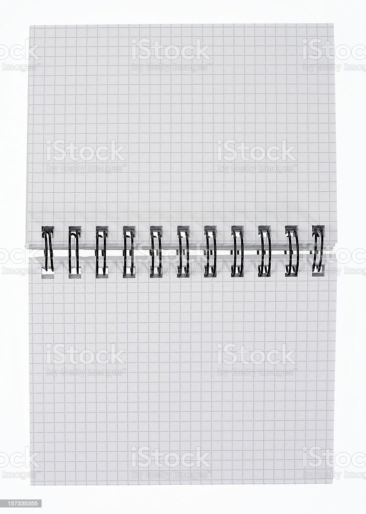 Spiral note book stock photo
