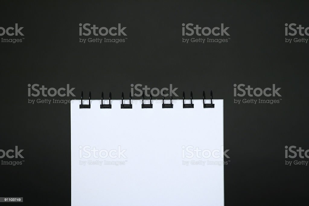 spiral note pad royalty-free stock photo