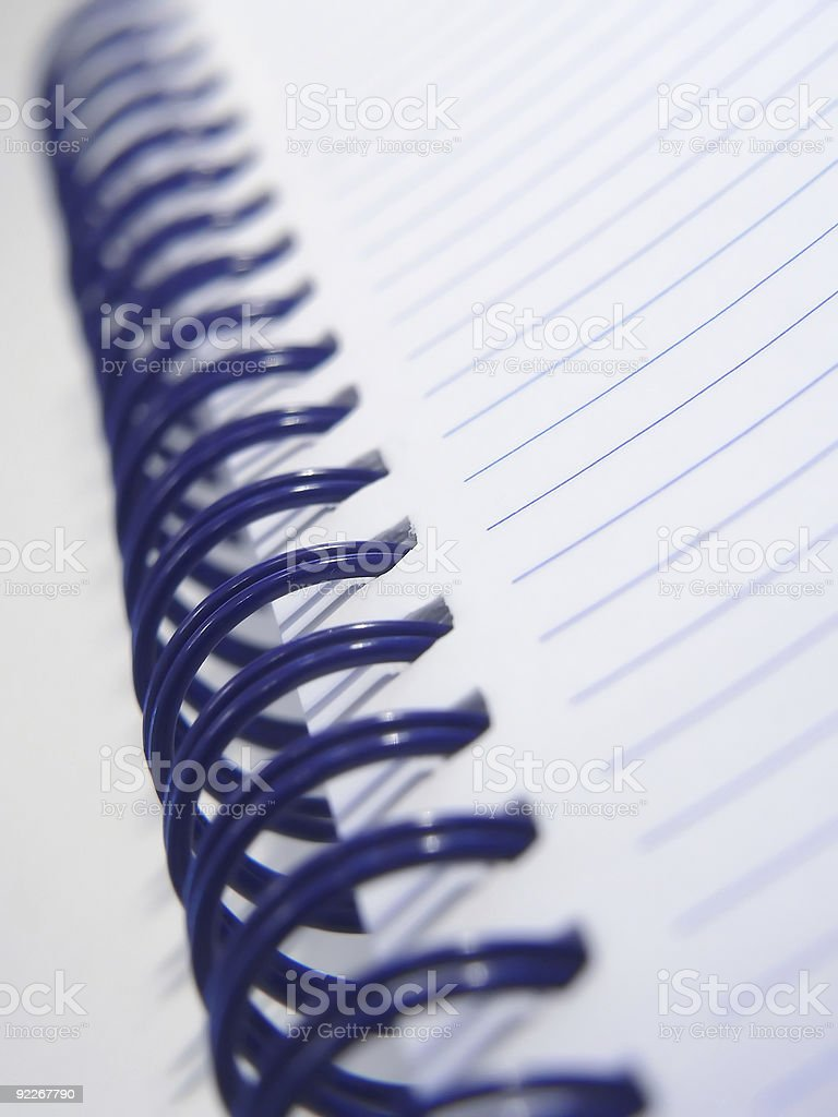 spiral notebook detail royalty-free stock photo
