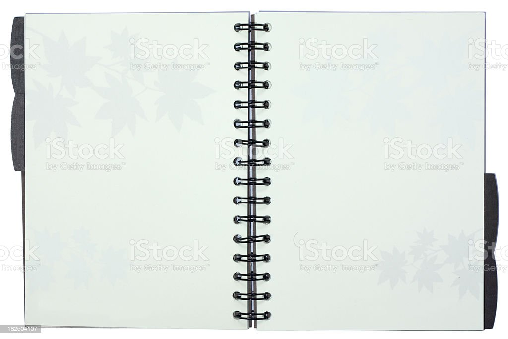 Spiral notebook stock photo