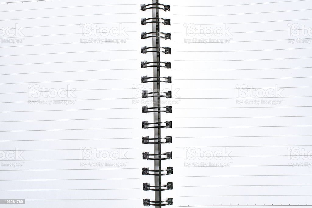 spiral notebook royalty-free stock photo