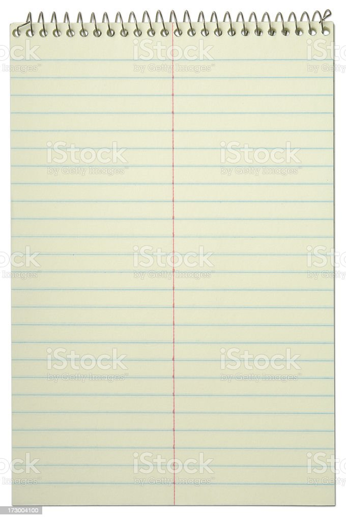Spiral Notebook with Path royalty-free stock photo