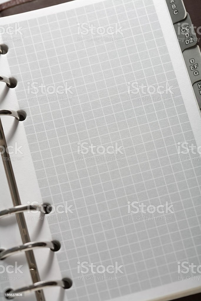 Spiral notepad royalty-free stock photo
