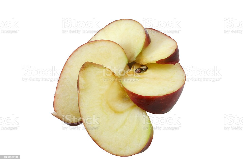 spiral of sliced apples royalty-free stock photo