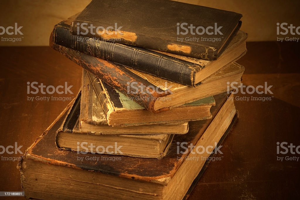 Spiral of Vintage Books royalty-free stock photo