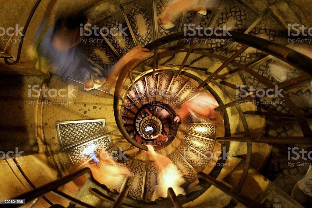 Spiral, Paris stock photo