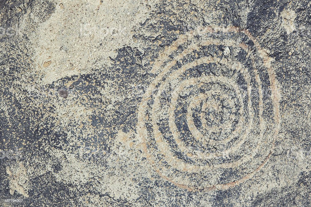 Spiral Pictogram - Petroglyph National Monument stock photo