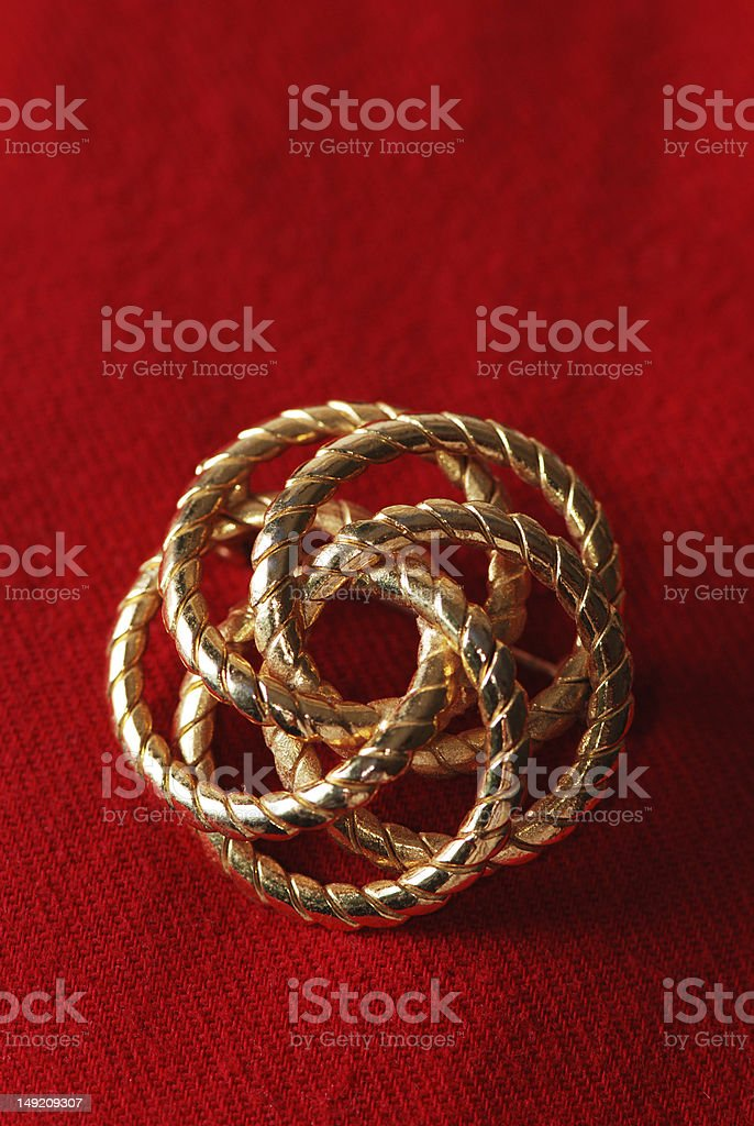 Spiral shaped brooch royalty-free stock photo