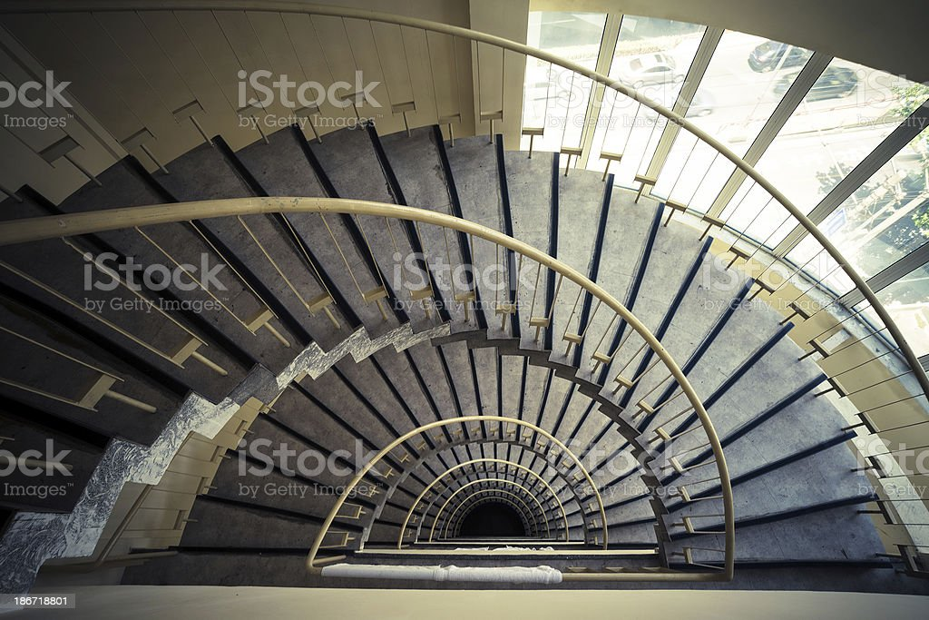 spiral stair royalty-free stock photo