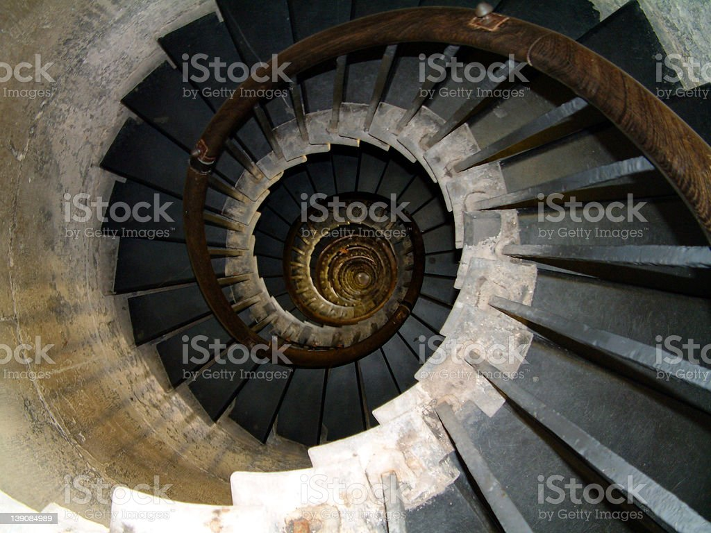 Spiral staircase : 01 royalty-free stock photo