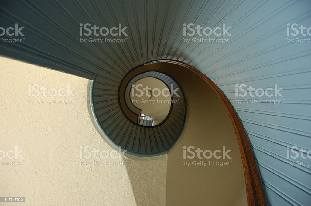 Spiral Staircase Abstract stock photo