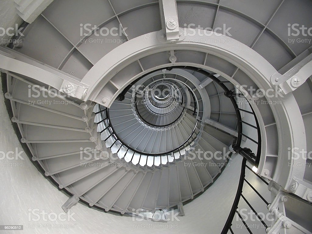 Spiral Staircase in Ponce De Leon Lighthouse stock photo