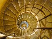 Spiral Staircase in Triumph de france, Paris, France