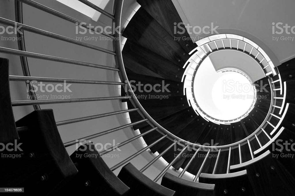 Spiral staircase, Jersey. stock photo