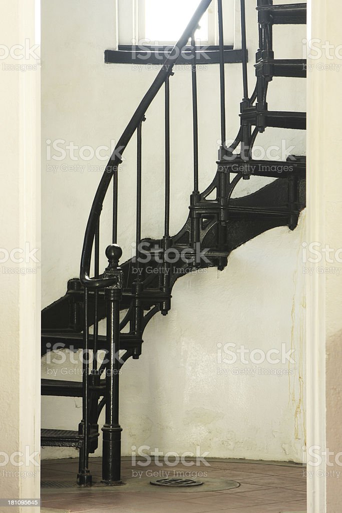 Spiral Staircase Lighthouse Steps stock photo