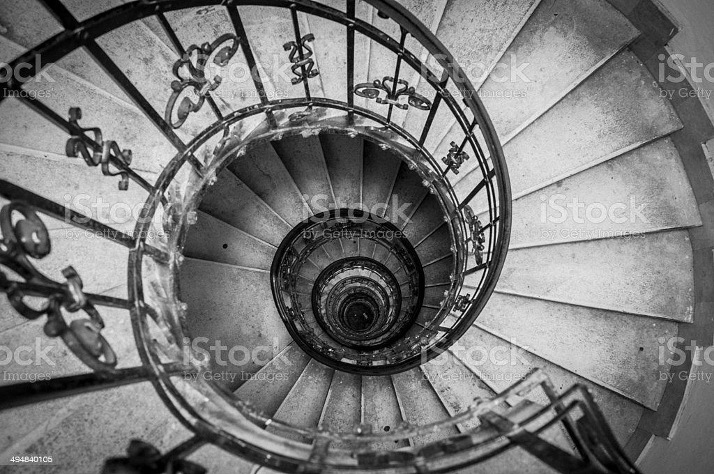 escalera de caracol a baslica de san esteban dome budapest foto de stock libre de